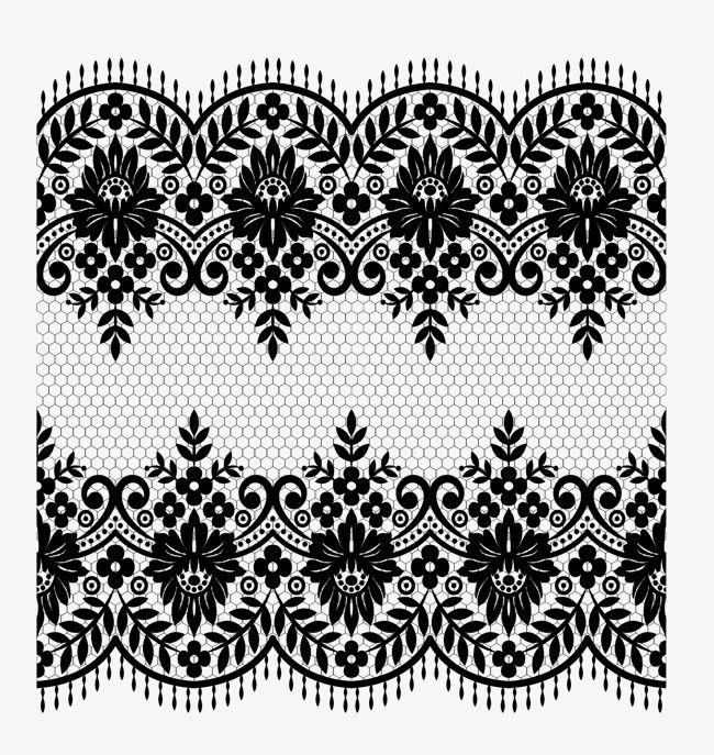 Vector Lace Material, Lace, Vector Lace, Black PNG Transparent.