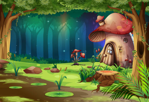Best Clip Art Of A Enchanted Forest Illustrations, Royalty.