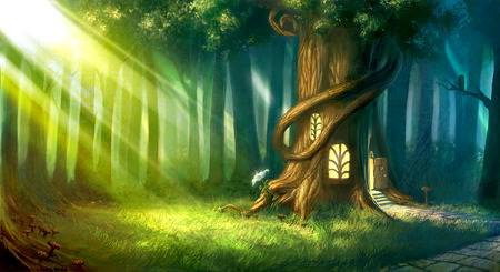 996 Enchanted Forest Stock Vector Illustration And Royalty Free.