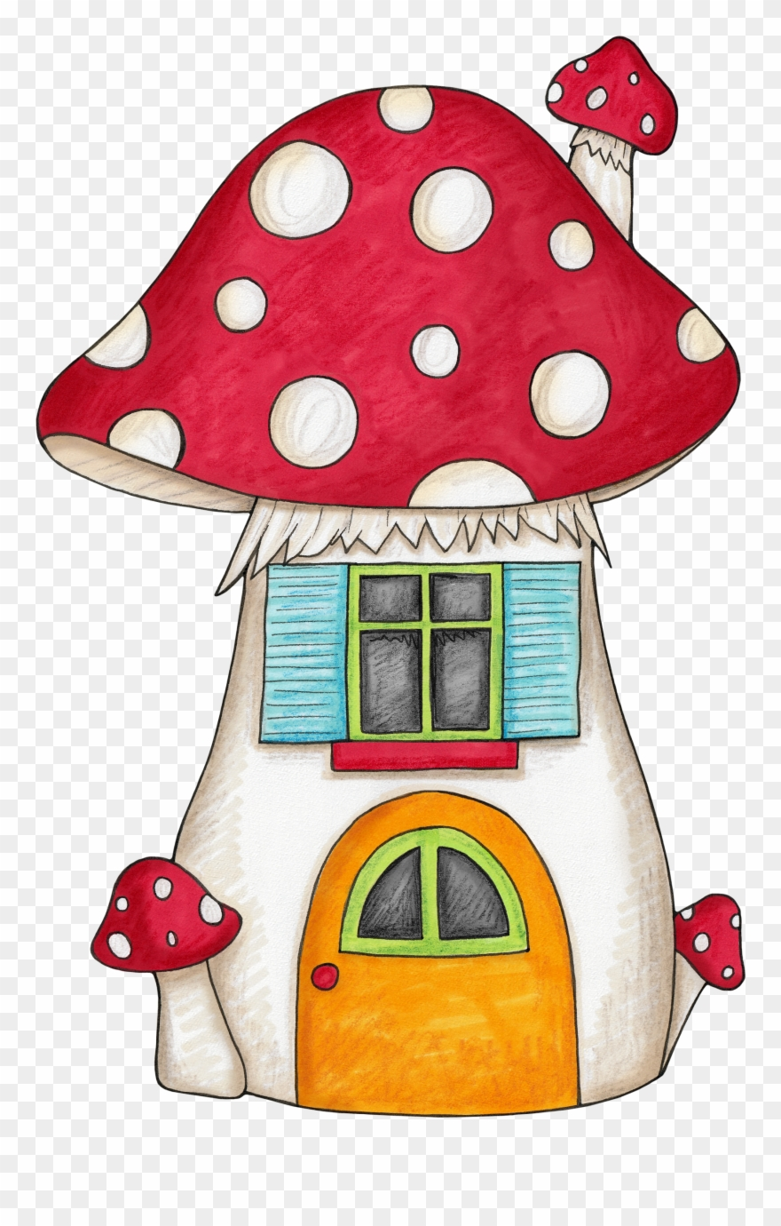 Mushroom House For An Enchanted Forest Woodland Themed Clipart.