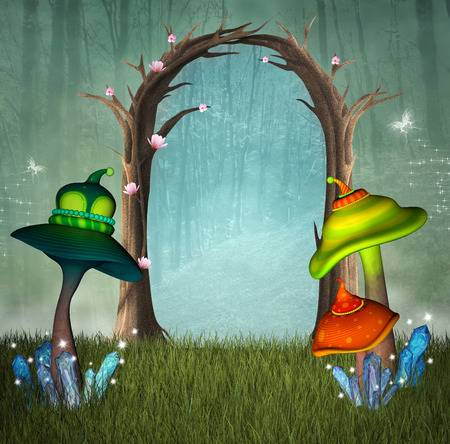 Enchanted forest clipart 2 » Clipart Station.