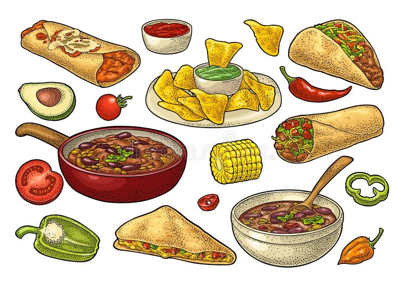 Enchilada Stock Illustrations.