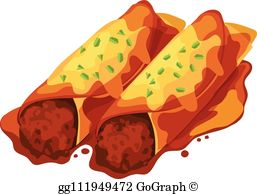 Enchiladas Clip Art.
