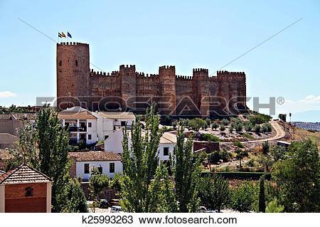 Stock Photo of castillo de ba?os de la encina k25993263.