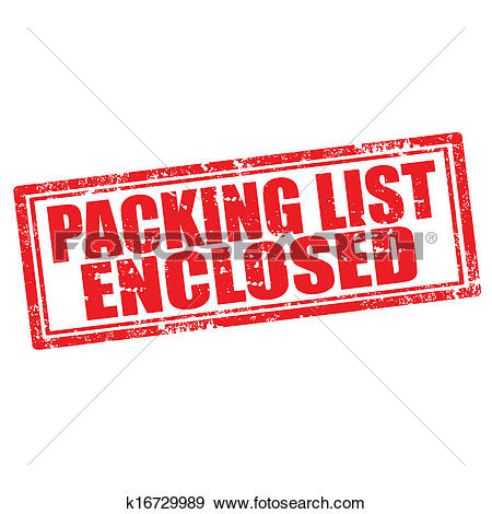 Clip Art of Packing List Enclosed k16729989.