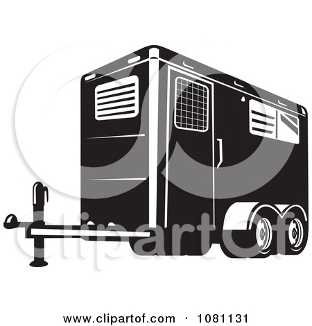Enclosed trailer clipart.