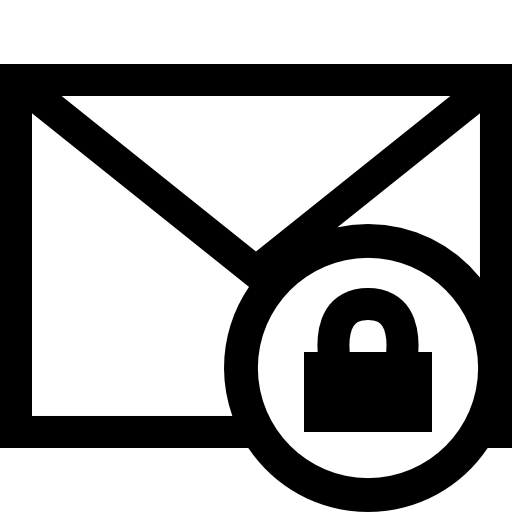 Encrypted Email Clip Art.