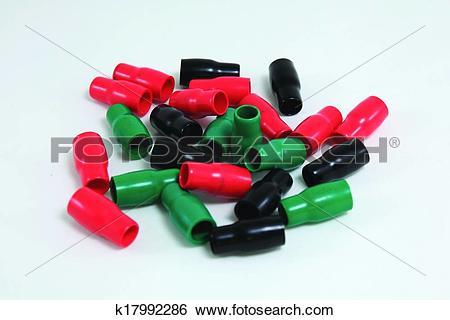 Stock Images of Vinyl wire end cap k17992286.