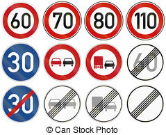 Clipart of End Of Speed Limit 60 In Iceland.