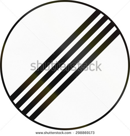 Bangladeshi Traffic Sign End Speed Limit Stock Illustration.