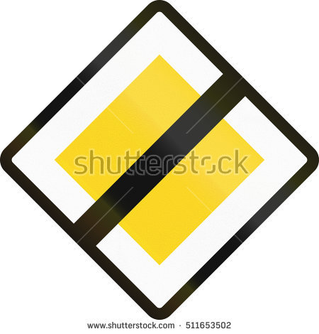 Priority Road Sign Stock Photos, Royalty.