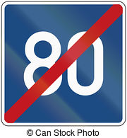 Clipart of End Of Speed Limit 60.