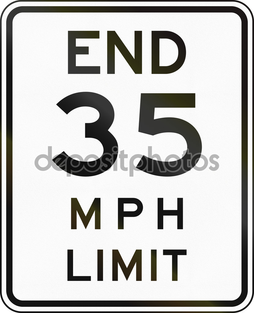 New York State End Speed Limit Sign — Stock Photo © jojoo64 #107996678.