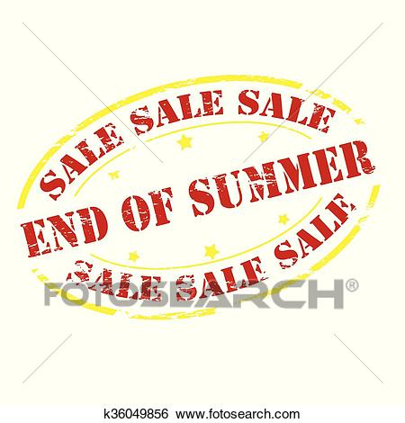Sale end of Summer Clip Art.