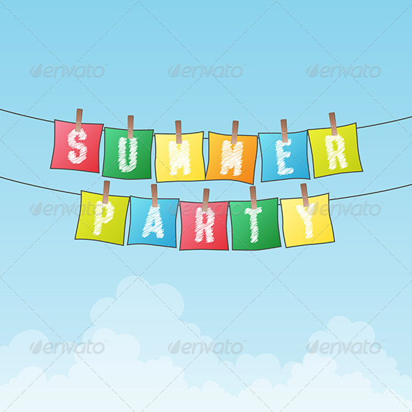 Party Summer Vectors from GraphicRiver.
