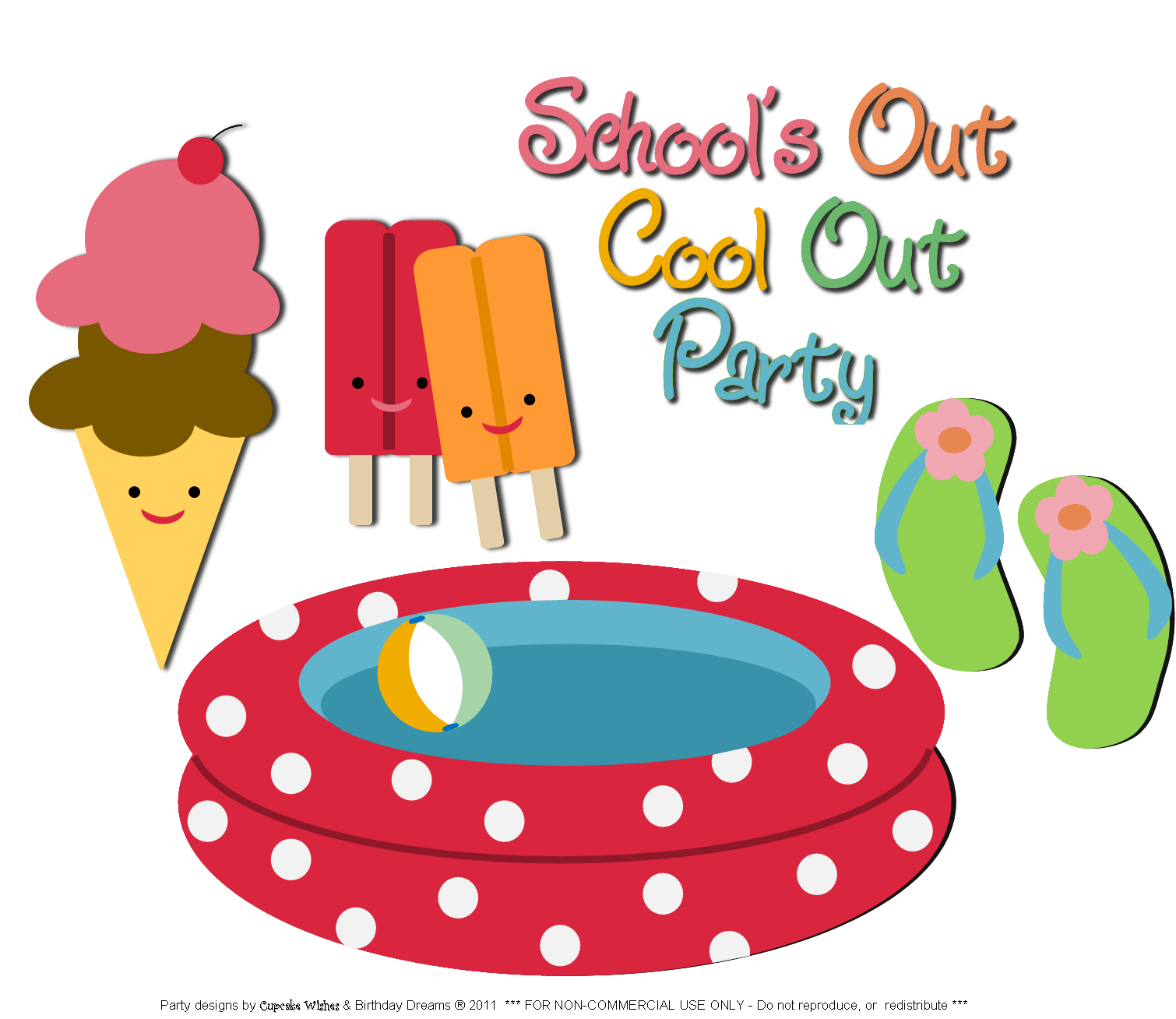 End Of Summer Party Clipart.