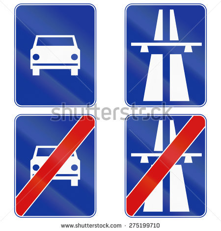 Polish Highway Stock Photos, Royalty.
