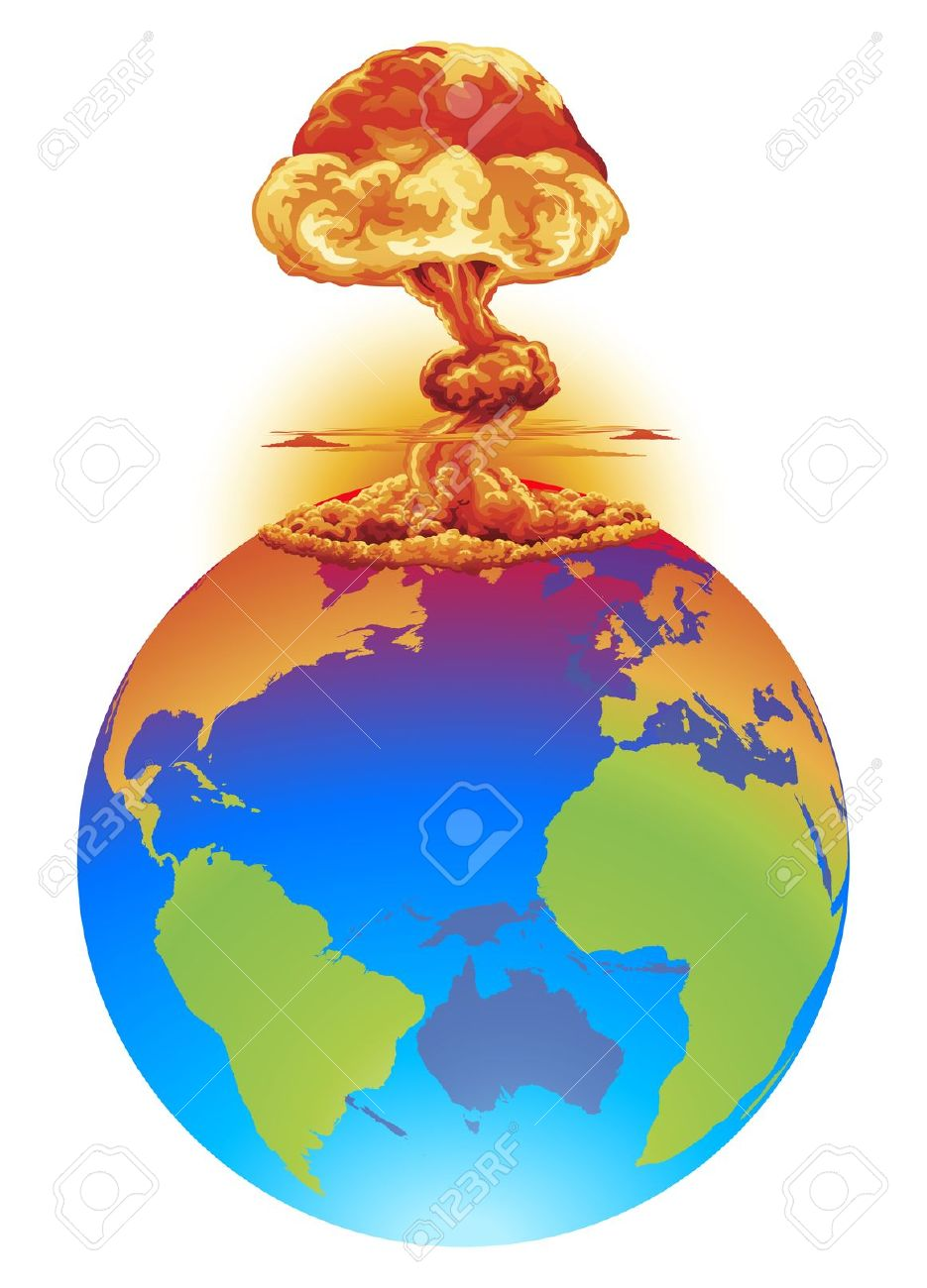 The World Is Coming to an End Clip Art.