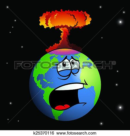 Clipart of End of the World k11283374.