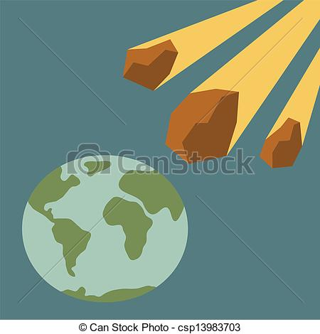 Vector Clipart of end of world.