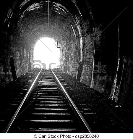 Stock Photography of Light at the end of the tunnel.