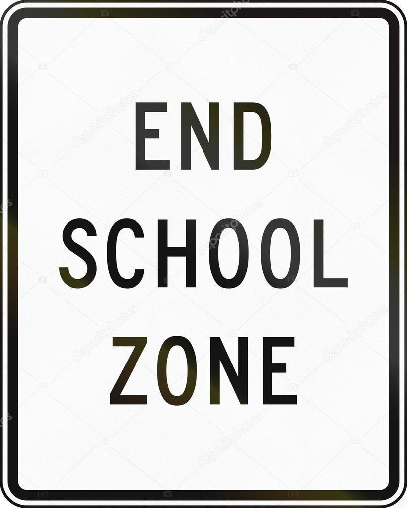 End School Zone — Stock Photo © jojoo64 #107937742.