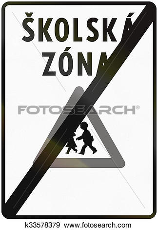 Stock Illustration of Road sign used in Slovakia.