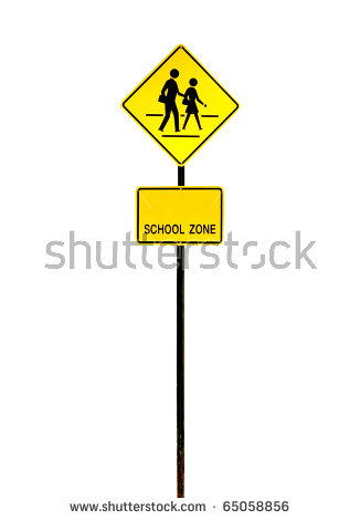 Pedestrian Crossing Sign Stock Images, Royalty.