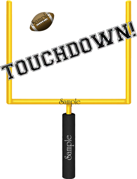 Football End Zone Clipart.