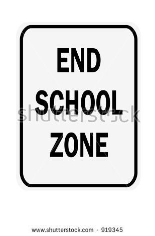 School Zone Sign Stock Images, Royalty.