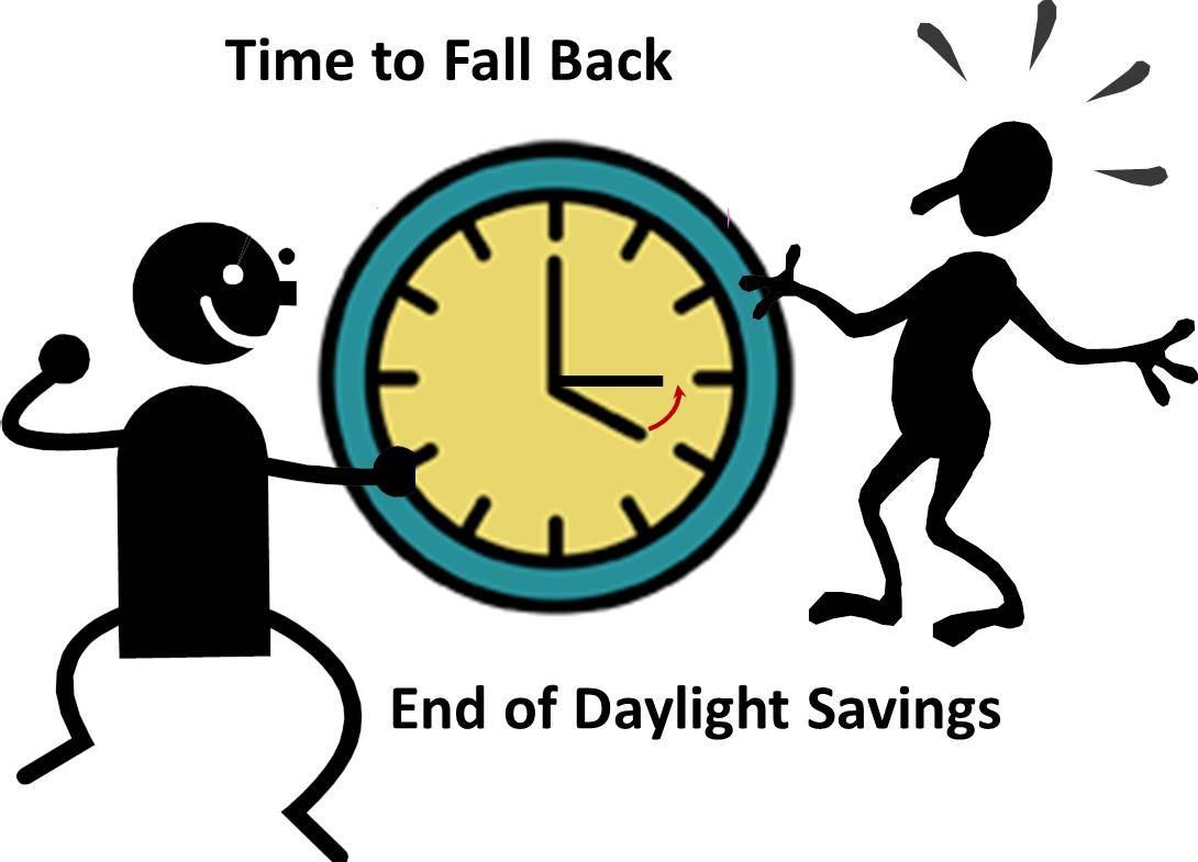 Daylight savings ends clipart.
