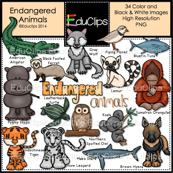 Endangered Species Protection Clip Art.