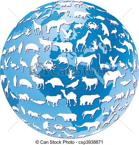 Clipart of endangered animals global csp3938871.