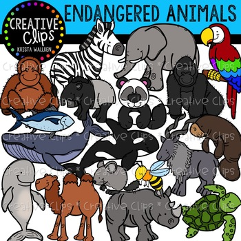 Endangered Animals Clipart {Creative Clips Clipart}.