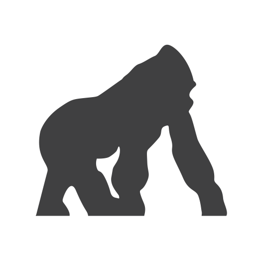 Endangered, gorilla icon.