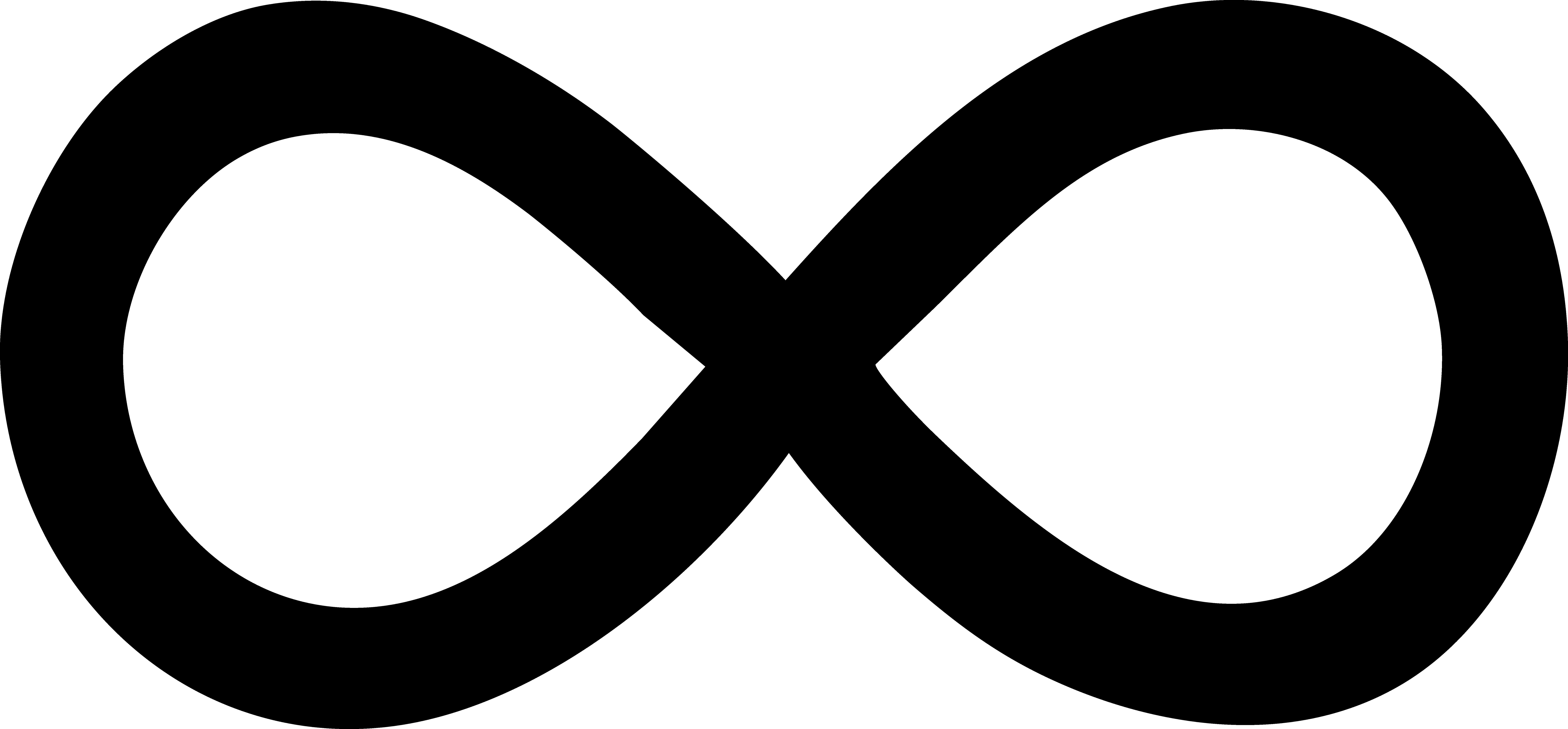 Simple Black Infinity Symbol.