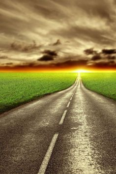 Endless road clipart.