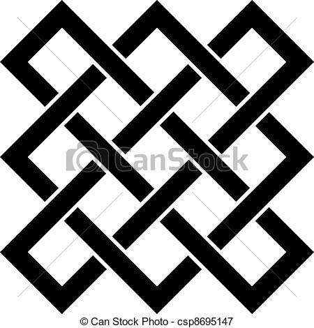 Vectors Illustration of vector endless celtic knot csp8695147.