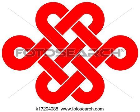 Clip Art of Endless knot k17204088.