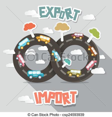 Vectors of Export Import.