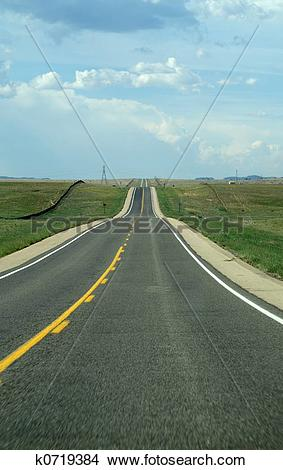 Stock Photo of Endless road k0719384.