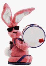 Moving bunny Clip Art.
