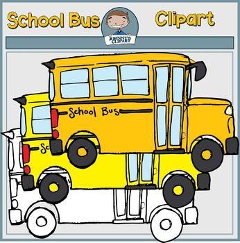 Freebie} School Bus Clipart.