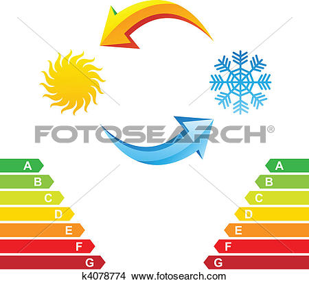 Clipart of Air conditioning and energy class chart k4078774.