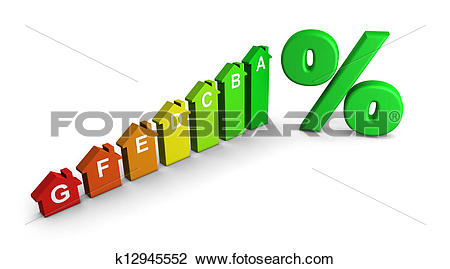 Stock Photo of Home Energy Class Label Graph k12945552.