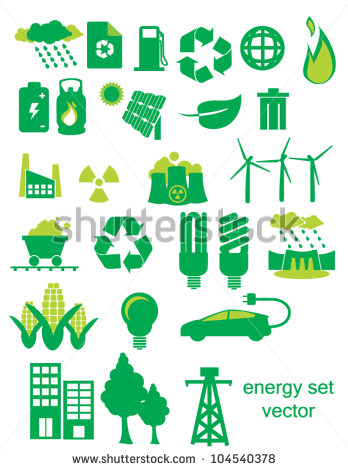 Energy Icons Stock Photos, Royalty.