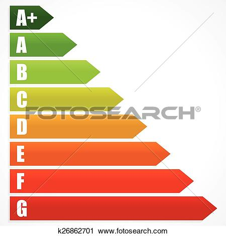 Clipart of Energy Rating Certificate, Energy Performance.