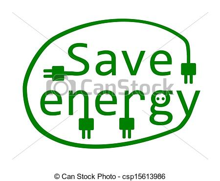Clip Art Vector of Save energy.