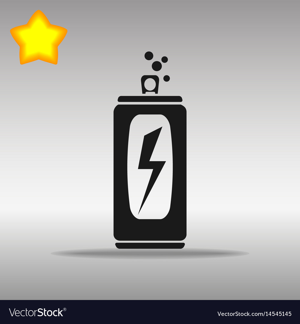 Black energy drink icon button logo symbol concept.