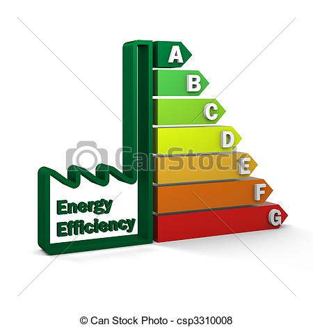 Stock Illustration of Energy Efficiency Rating Chart.